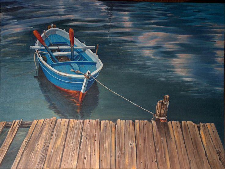 "''waiting"" - oil on canvas, 50x60 cm"