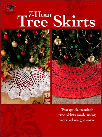 Crochet - Holiday & Seasonal Patterns - Christmas Patterns - 7-Hour Tree Skirts