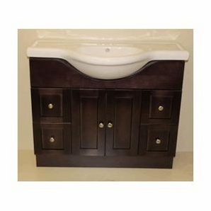 Luxury Vanity With 2 Doors And 4 Drawers Doors And Drawers Are Made Of Espresso Color Finish Maple Cabinet Interior Is Natural Maple Melamine Shop Allen  Roth Specialty Grey Flintshire Contemporary Bath Vanity At Lowes Canada Find Our