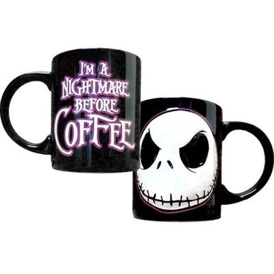 NIGHTMARE BEFORE CHRISTMAS JACK SKELLINGTON CERAMIC COFFEE CUP ·  I NEED IT