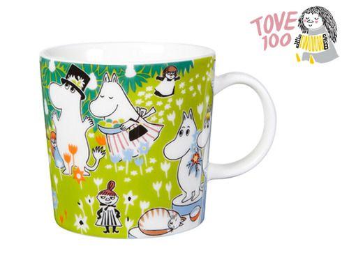 Arabia's new jubilee Moomin mug in honor of the 100th anniversary of Tove Jansson