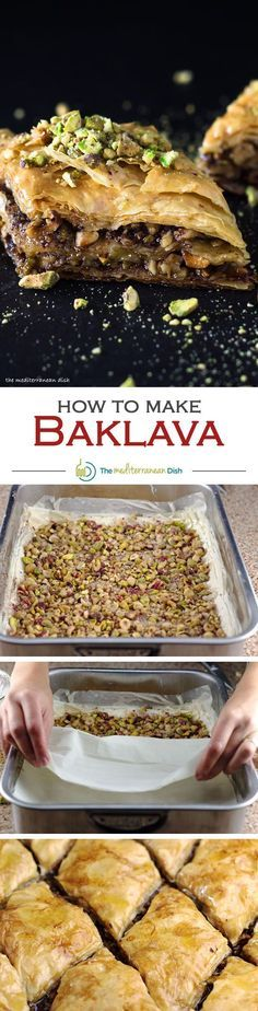 Baklava Recipe | Mediterranean Cooking.The best tutorial for how to make baklava! Flaky and buttery phyllo dough, filled with nuts and drenched in homemade honey-orange syrup.