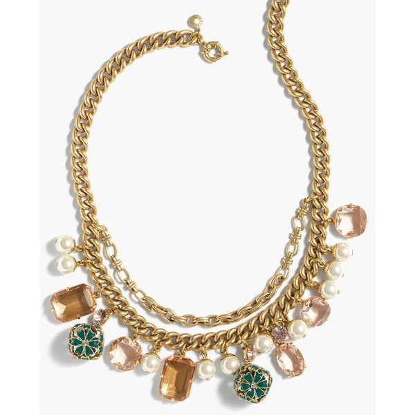 J.Crew Charm Necklace ($130) ❤ liked on Polyvore featuring jewelry, necklaces, j crew jewellery, charm necklace, charm jewelry, j.crew necklace and adjustable necklace