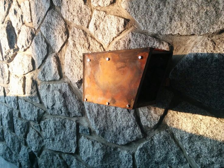 My new DIY mailbox. Easy thanks to Modern Masters rust paint process.