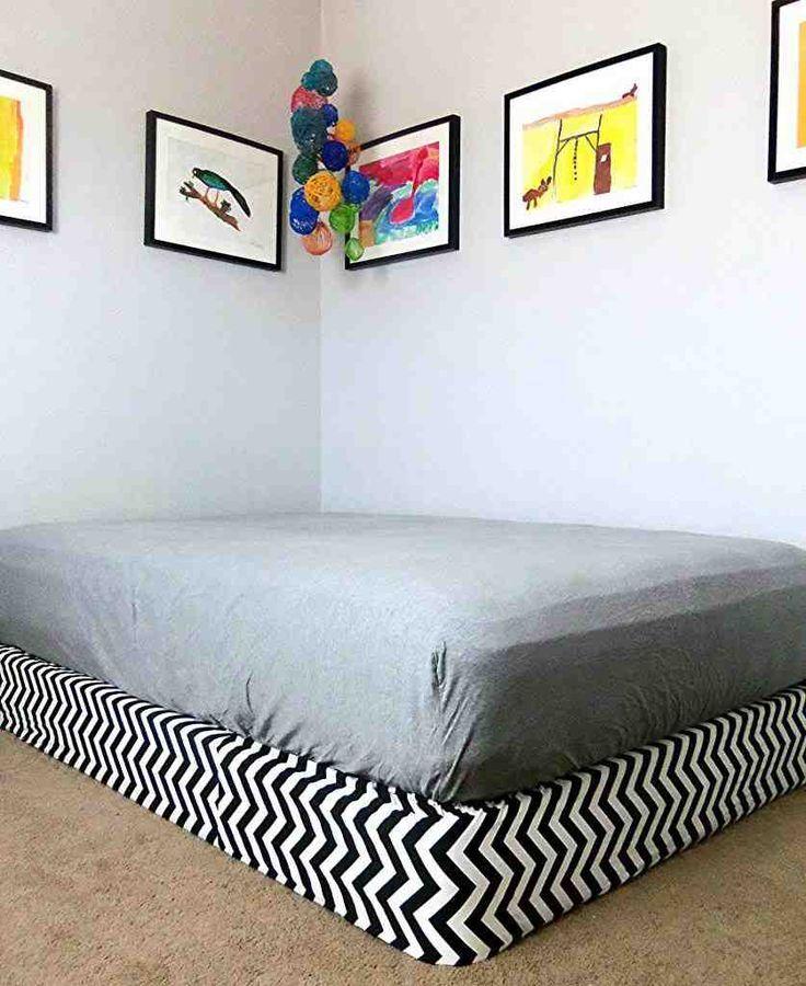 Fake Platform Bed Box Spring Cover Bedroom Sitting Room Diy Platform Bed