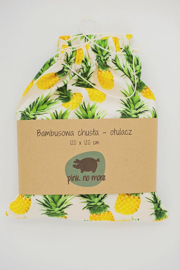 bamboo swaddles, pineapple print designed by Pink No More
