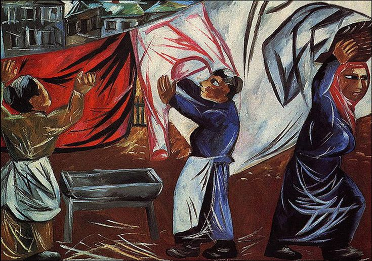 Ларионов Михаил Федорович. «Прачки» 1911 г. Larionov Mikhail Rayonism, Russian…