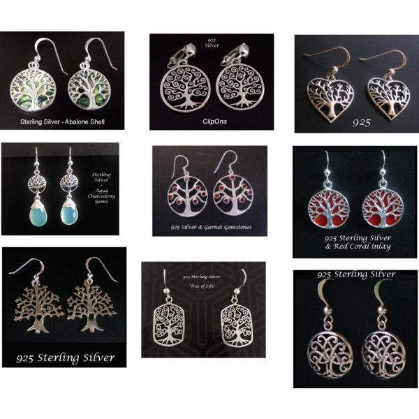 Tree of Life Earrings - Sterling Silver Earrings Collection - find these and more at www.treeoflifejewellery.com and www.ets.com/shop/MyTreeOfLifeJewelry and www.mothersdayaustralia.net.au #treeoflife #treeoflifejewelry #earrings #silverearrings #celtic