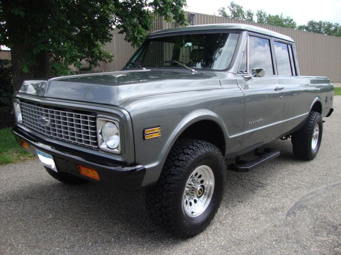 1971 Chevrolet C20, with the back half made like a truck ...