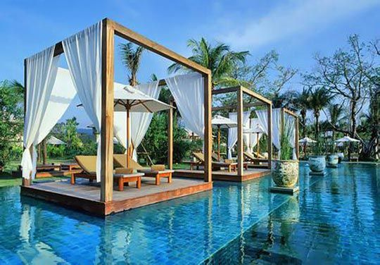 #Pool with #cabanas