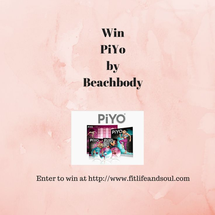 Win PiYo DVD Workout Program by Beachbody, instructed by Chalene Johnson. Enter to win at http://www.fitlifeandsoul.com/giveaways/free-contest-beachbody-piyo-dvd-workout-program-by-chalene-johnson/ Piyo combines pilates and yoga to get a great workout. Fo