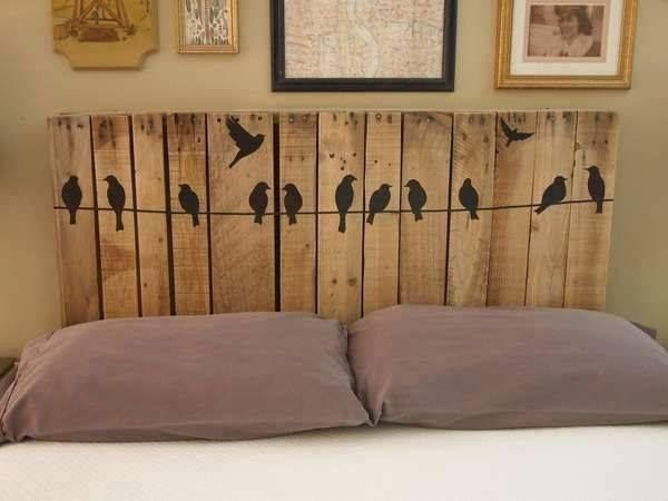 Eco ideas y reciclaje cabeceros de cama con palets for Cabeceros de cama con palets