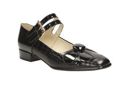 Clarks Orla Angelina - Negro Croc - Zapatos de vestir para mujer | Clarks