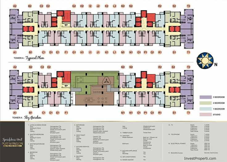 Puri Mansion Apartment Floor Plan.