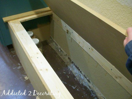 How To: Build A Banquette Seat With Storage