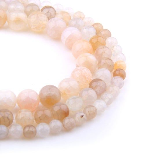 Pink Agate Gemstone 6mm Band Size 6-8