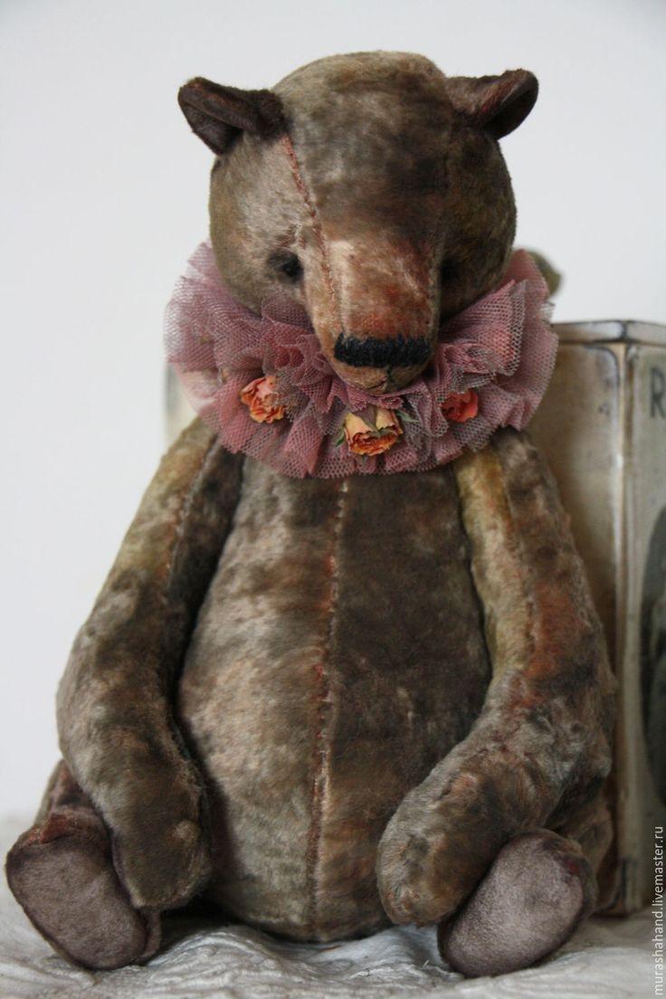 Купить Мишка Гранит 29 см (мишки тедди) - антикварный плюш, любимый, интерьерная игрушка