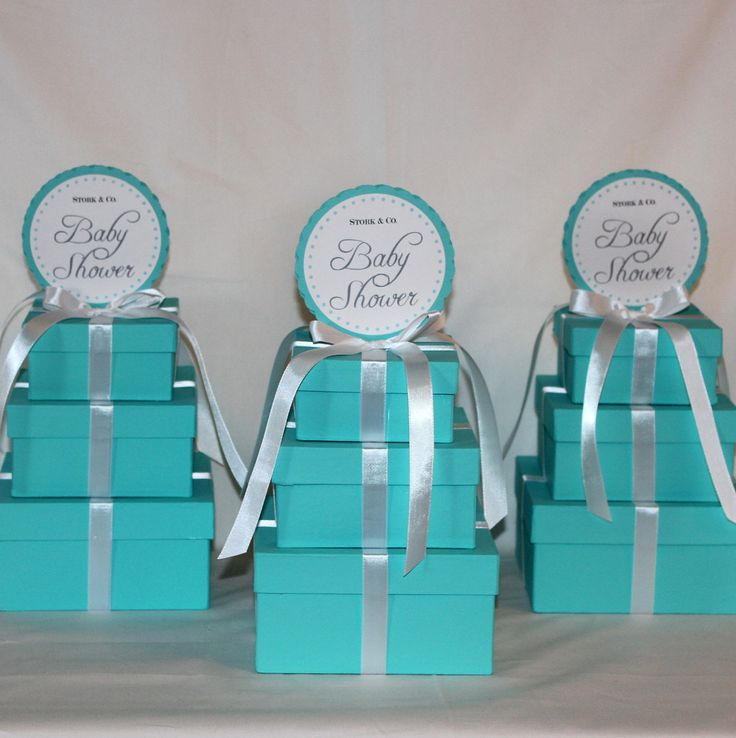 tiffany blue and black wedding decorations%0A Baby Shower Centerpieces  Tiffany Co  Inspired Box  Tiffany Blue and White
