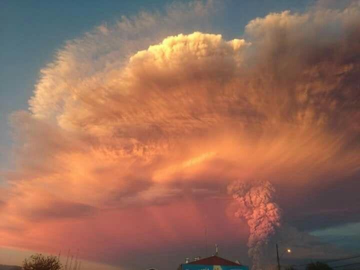 Erupción Volcan Calbuco