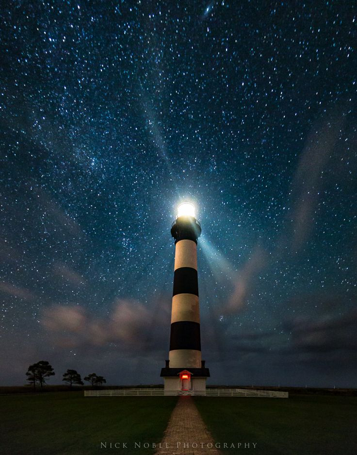 [North Carolina] Bodie Lighthouse under the Stars - Nick Noble Photography