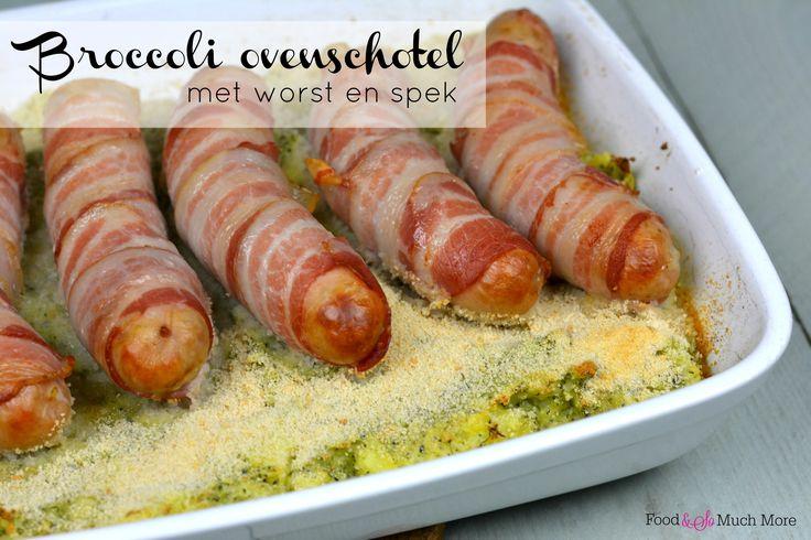 Een lekkere broccoli ovenschotel met worst en spek. Heerlijk voor het het hele gezin en heel makkelijk te maken!