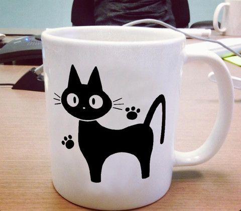 Jiji The Cat from Kikis Delivery Service Ceramic Mug #mug #ceramicmug #ceramic #coffemug #teamug #cup #funnymug