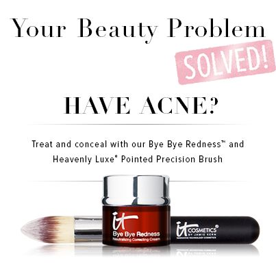 Have acne? Treat and conceal it with Bye Bye Redness and Heavenly Luxe!
