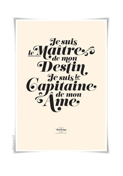 Invictus (French)Sui Le, Invictus, A Tattoo, Typography Art, Captain, Is Sui, French Words, French Inspiration Quotes, Vintage Style