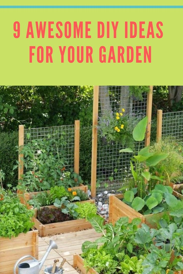 11 Awesome Diy Ideas For Your Garden Easy Garden Gardening