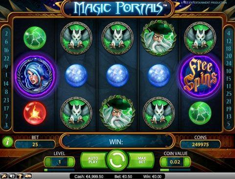 Играть в казино Вулкан на автомате Magic Portals на деньги Волшебный игровой автомат Magic Portals от разработчика Net Entertainment привлекает гемблеров казино Вулкан потрясающей графикой, хорошим звучанием, интересными возможностями для выигрыша реальных денег и занимательны�