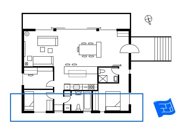 The Northern Side Of The Floor Plan Relates To The Northern Elevation Click Through To Www Housep Floor Plan Symbols Free Floor Plans Stairs Outside The House