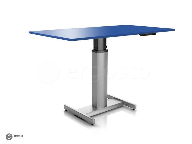 Компактный стол ErgoStol Uno H на одной ножке для работы стоя