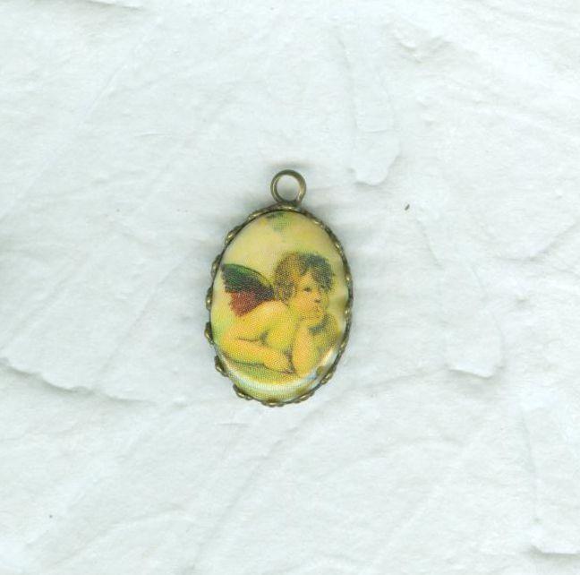 2 Raphael Angel Cherub Pendants Framed Ready To Wear Jewelry Tiny Ornaments 20% Off Sale #cshort0319 #Bonanza http://www.bonanza.com/listings/508750942