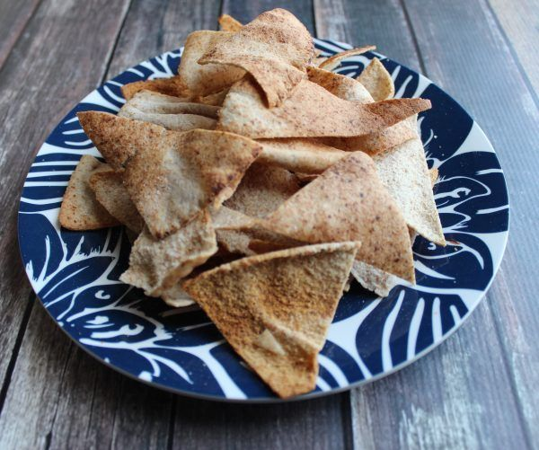 Baked Pita Chips http://www.confessionsofafitnessinstructor.com/2013/01/baked-pita-chips/
