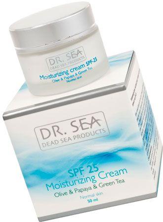 Dr. Sea :: Увлажняющий крем с маслами оливы и папайи и экстрактом зеленого чая SPF 25 ::  на КосметикаПоиск.ру