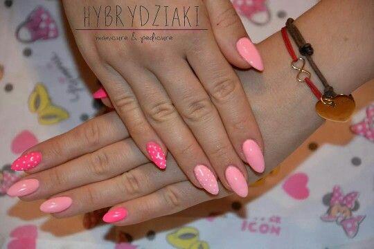 SPN UV LaQ 561 Night in Miami, 614 Miss WANTED, 502 My wedding dress.   Nails by Hybrydziaki ❤ #nails #paznokcie #spnnails