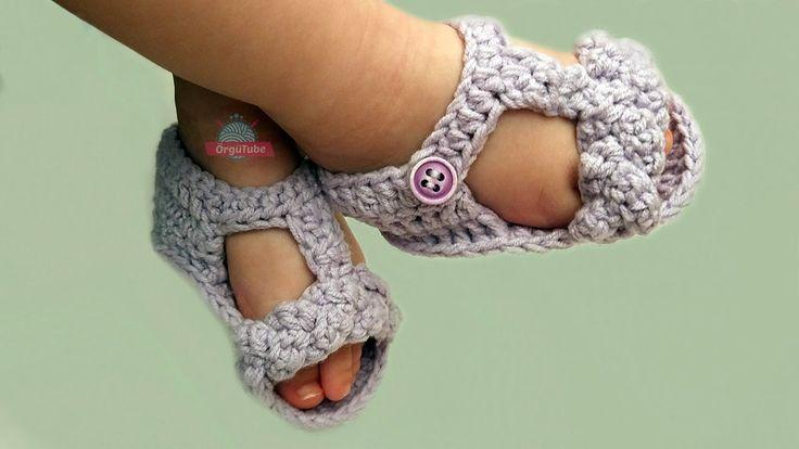 Yazlık Örgü Bebek Sandalet Patik Yapımı