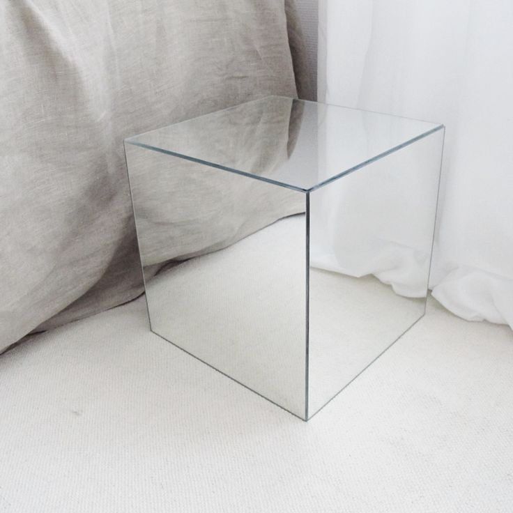 diy mirror cube using IKEA LOTS