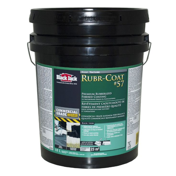 Shop BLACK JACK  18L Black Rubr-Coat #57 Fibered Roof Coating at Lowe's Canada. Find our selection of roof coatings & sealants at the lowest price guaranteed with price match + 10% off.