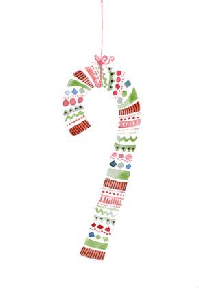 Candy Cane christmas card