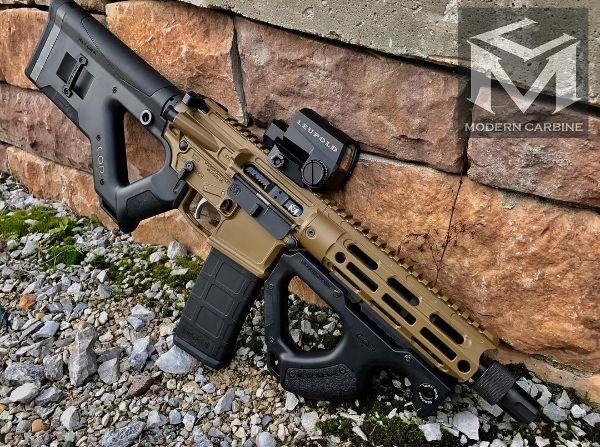 moderncarbine.300 Blackout CQR MC6 Modern Carbine™ SBR with @LeupoldOptics and @Griffin_Armament taper mount flash hider.