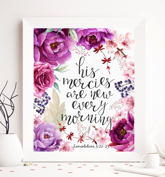 $5 Lamentations 3:22-23 bible printable His mercies by SoulPrintables