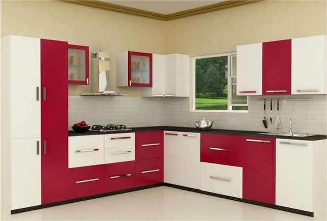 Shaped Indian Kitchen Designs Homes L