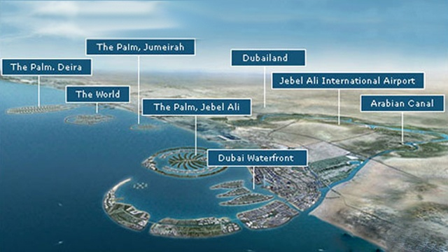 Must Visit Dubai Attractions - When you visit Dubai, do not forget to go to these places - Dubai Waterfront, The Palm-Jebel Ali, Dubailand, Arabian Canal, The World Islands, The Palm-Deira, The Palm –Jumeirah and the Jebel Ali International Airport.