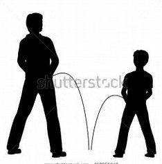 Image result for silhouette of man peeing
