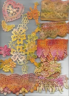 dyed lace