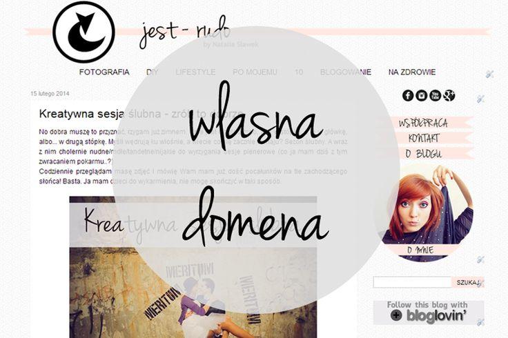 Jak przejść na własną domenę (blogspot)