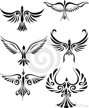 If anyone like these tribal birds tattoo