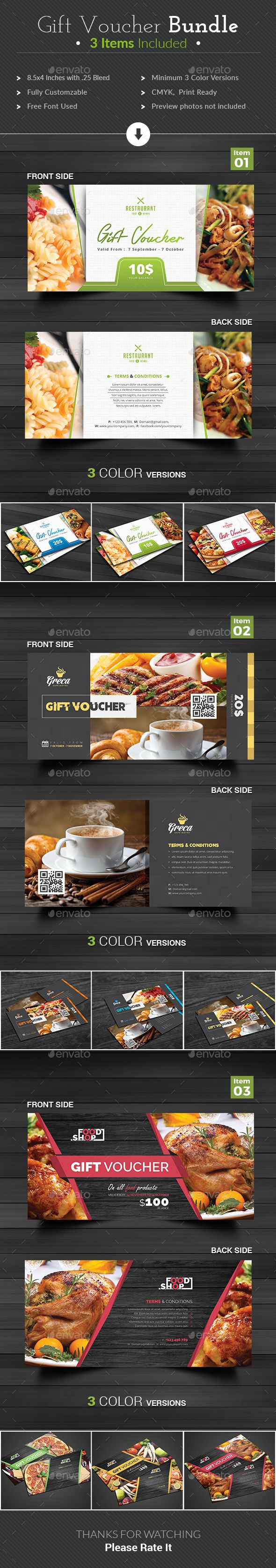 Gift Voucher  — PSD Template #fashion voucher #photography voucher • Download ➝ https://graphicriver.net/item/gift-voucher/18370346?ref=pxcr