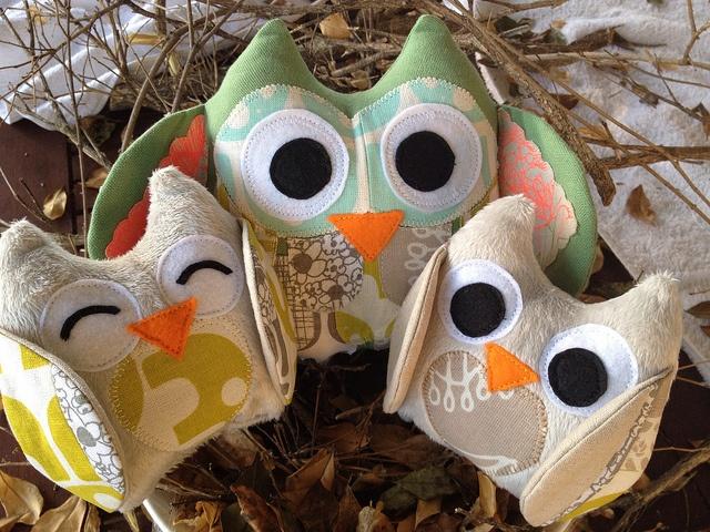 Owl family by Susan Miranda made with Umbrella Prints Trimmings 2012.  http://www.umbrellaprints.blogspot.com.au/